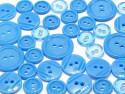 guziki mix 3 wielkości 40szt. niebieski