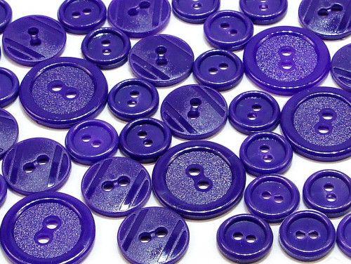 guziki mix 3 wielkości 40szt. fioletowy