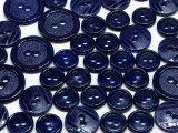 guziki mix 3 wielkości 40szt. granatowy