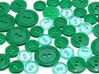 guziki mix 3 wielkości 40szt. zielony