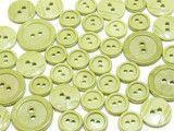 guziki mix 3 wielkości 40szt. oliwkowy
