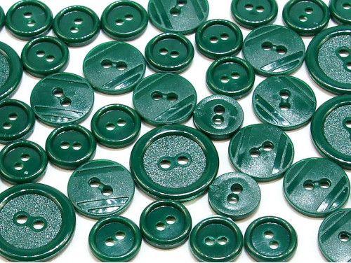 guziki mix 3 wielkości 40szt. ciemny zielony