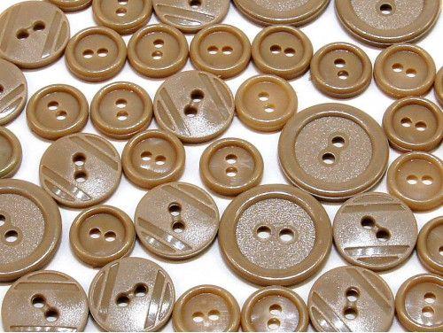 guziki mix 3 wielkości 40szt. cappucino