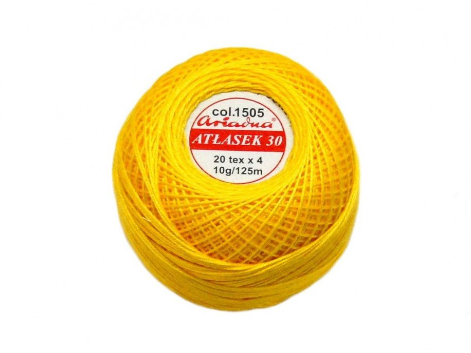 Atłasek 30 (20x4) motek 10g kolor 1505 żółty