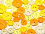 guziki 3 wielkości 40szt. mix żółtych