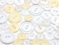 guziki mix 3 wielkości 40szt. mix białych