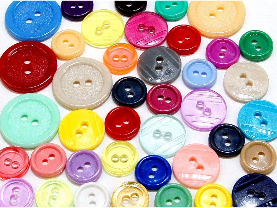 guziki mix 3 wielkości 40szt. szalony mix