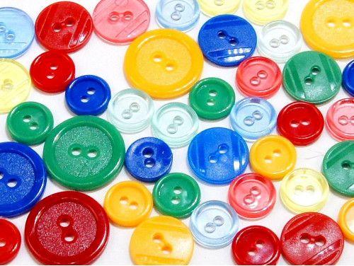 guziki mix 3 wielkości 40szt. mix wesoły