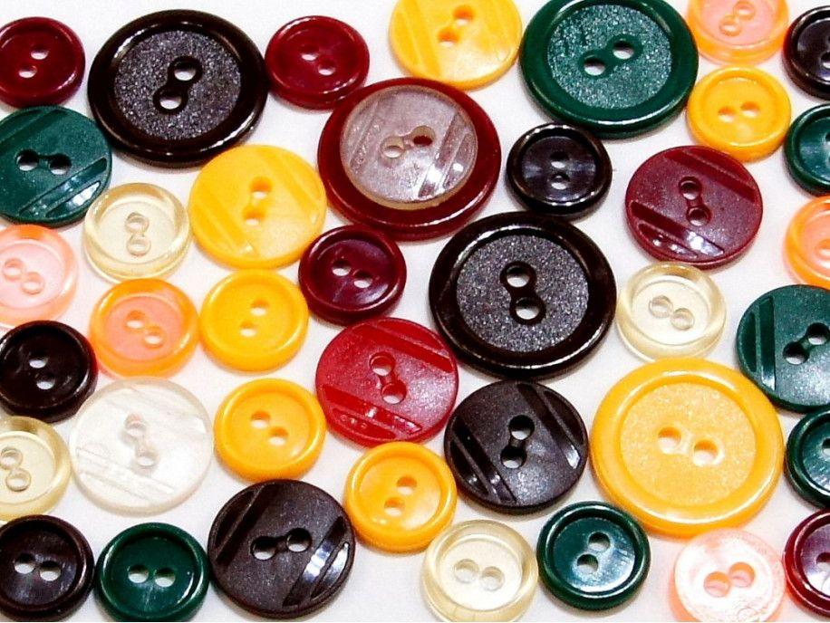 guziki mix 3 wielkości 40szt. mix jesienny