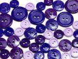 guziki mix 3 wielkości 40szt. mix fioletowych