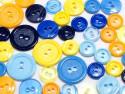 guziki mix 3 wielkości 40szt. mix niebiesko-żółty