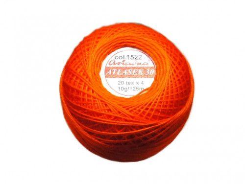 Atłasek 30 (20x4) motek 10g kol. 1522 pomarańcz