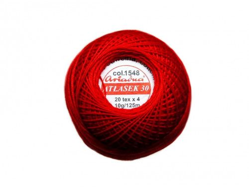 Atłasek 30 (20x4) motek 10g kol. 1548 czerwony