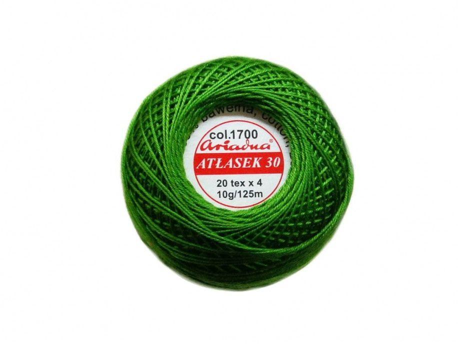 Atłasek 30 (20x4) motek 10g kol.1700 zielony