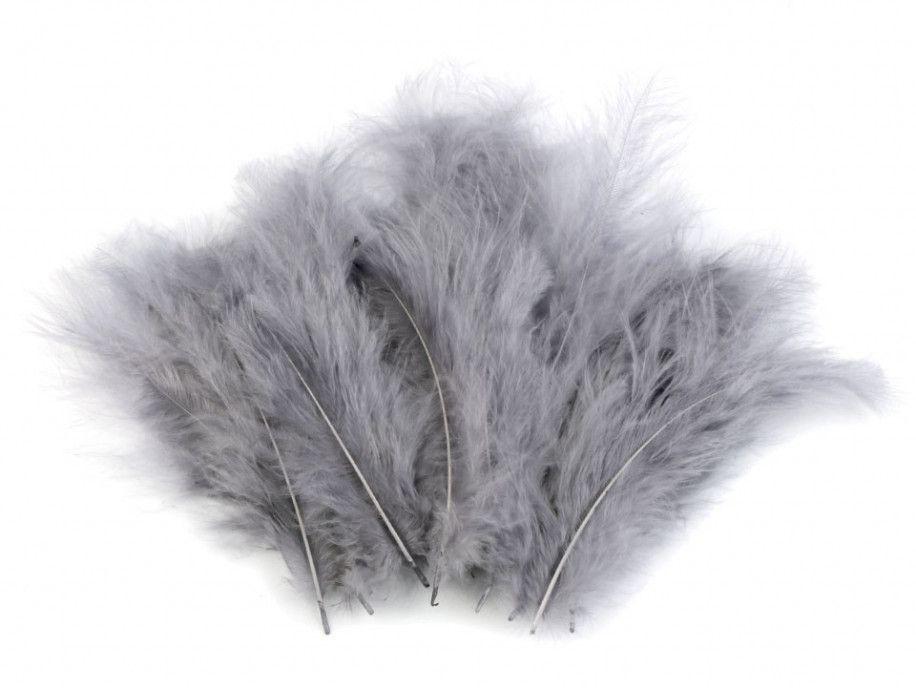 strusie pióra 9-16 cm szare