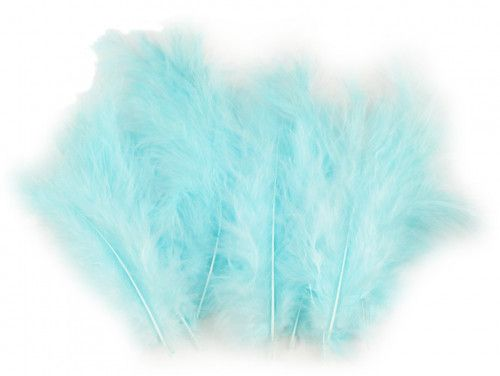 strusie pióra 9-16 cm turkusowe jasne