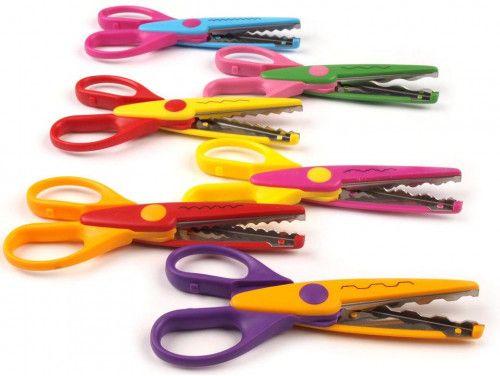 Nożyczki ozdobne dziecięce zestaw 6 sztuk