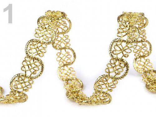 taśma metalizowana pleciona złota