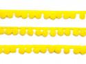 pomponiki na taśmie żółte