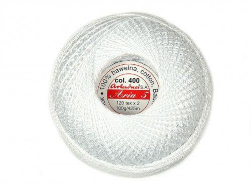 Kordonek ARIA 5 kol. 400 biały 100g