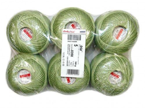 Kordonek ARIA 5 kol. 350 oliwka paczka 6szt.