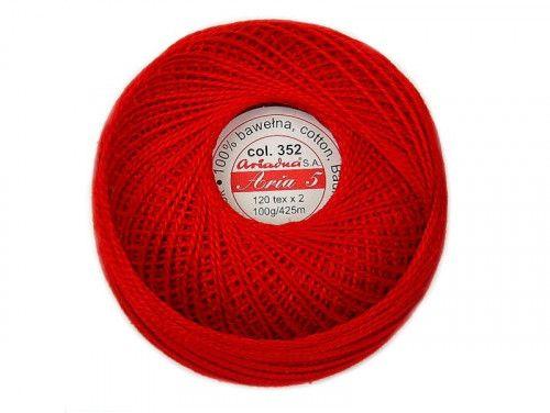 Kordonek ARIA 5 120x2 kol. 0352 czerwony