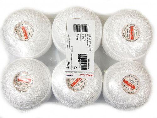 Kordonek ARIA 5 kol. 0400 biały paczka 6szt.