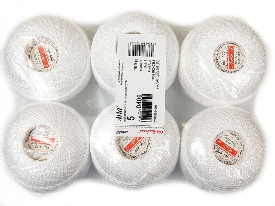 Kordonek ARIA 5 120x2 paczka 6szt. biały