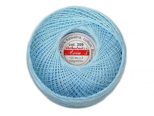Kordonek ARIA 5 120x2 kol. 359 jasno niebieski