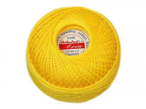 Kordonek ARIA 5 120x2 kol. 0360 żółty