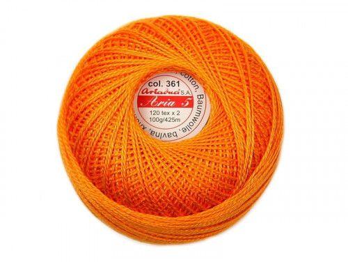 Kordonek ARIA 5 120x2 kol. 0361 pomarańczowy