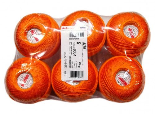 Kordonek ARIA 5 kol. 0361 pomarańczowy paczka 6szt.