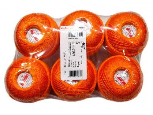 Kordonek ARIA 5 kol. 361 pomarańczowy paczka 6szt.