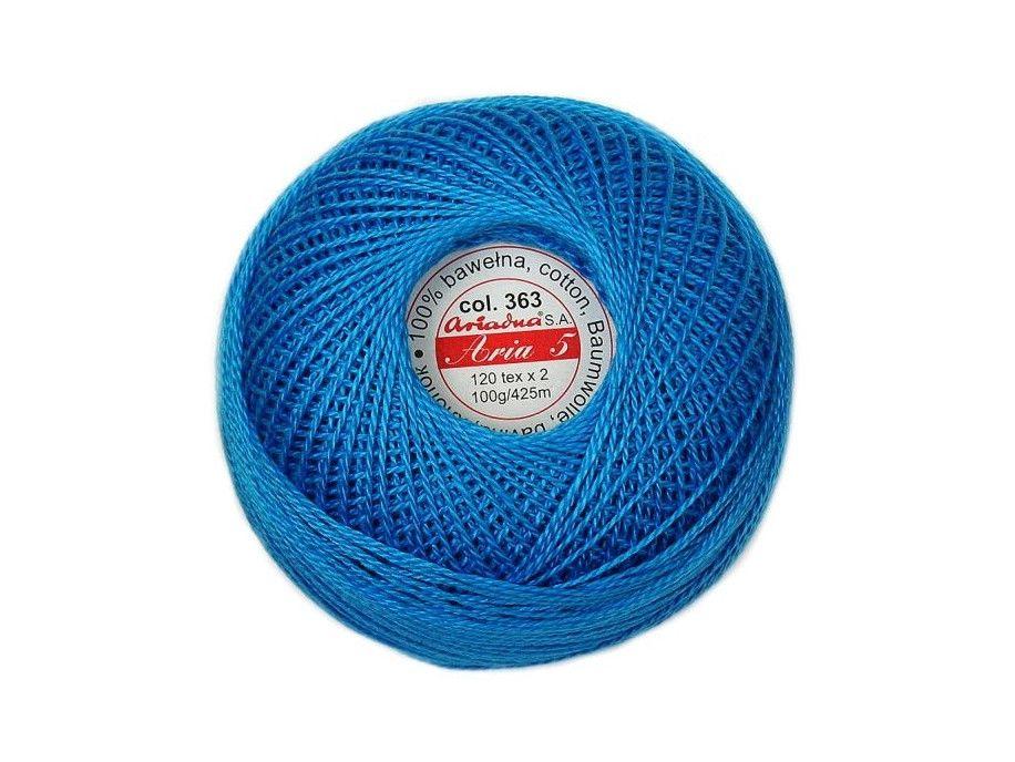 Kordonek ARIA 5 120x2 kol. 363 niebieski