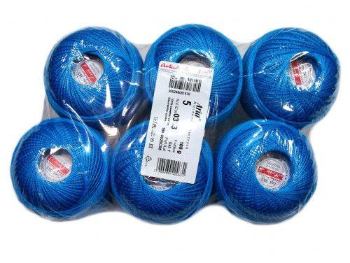 Kordonek ARIA 5 kol. 363 niebieski paczka 6szt.