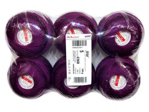 Kordonek ARIA 5 kol. 368 fioletowy paczka 6szt.