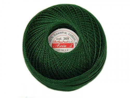 Kordonek ARIA 5 120x2 kol. 0369 zielony
