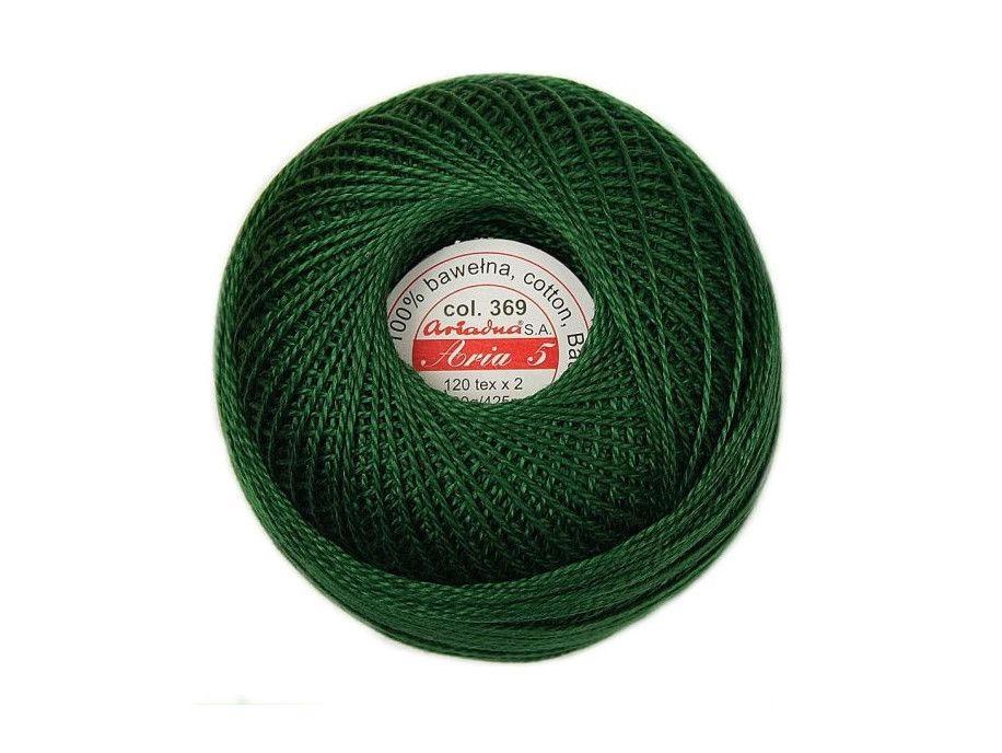 Kordonek ARIA 5 120x2 kol. 369 zielony