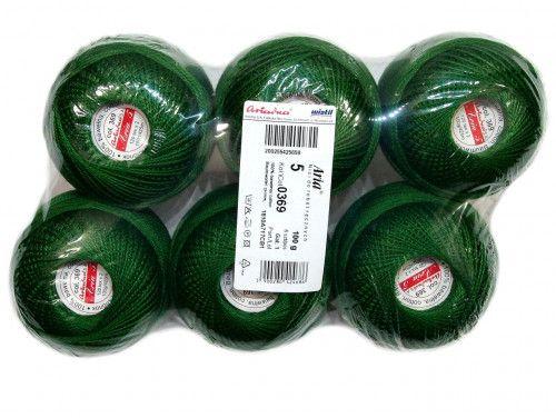 Kordonek ARIA 5 kol. 369 zielony paczka 6szt.