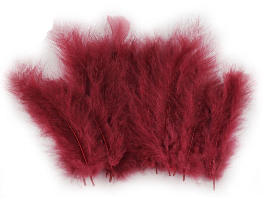 strusie pióra 9-16 cm bordowe