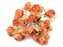 sztuczne róże pomarańczowe 12 szt.