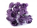 sztuczne róże fioletowe 12 szt.