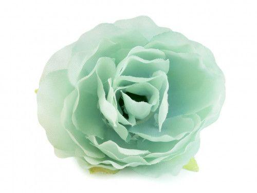 kwiat sztuczna róża miętowa
