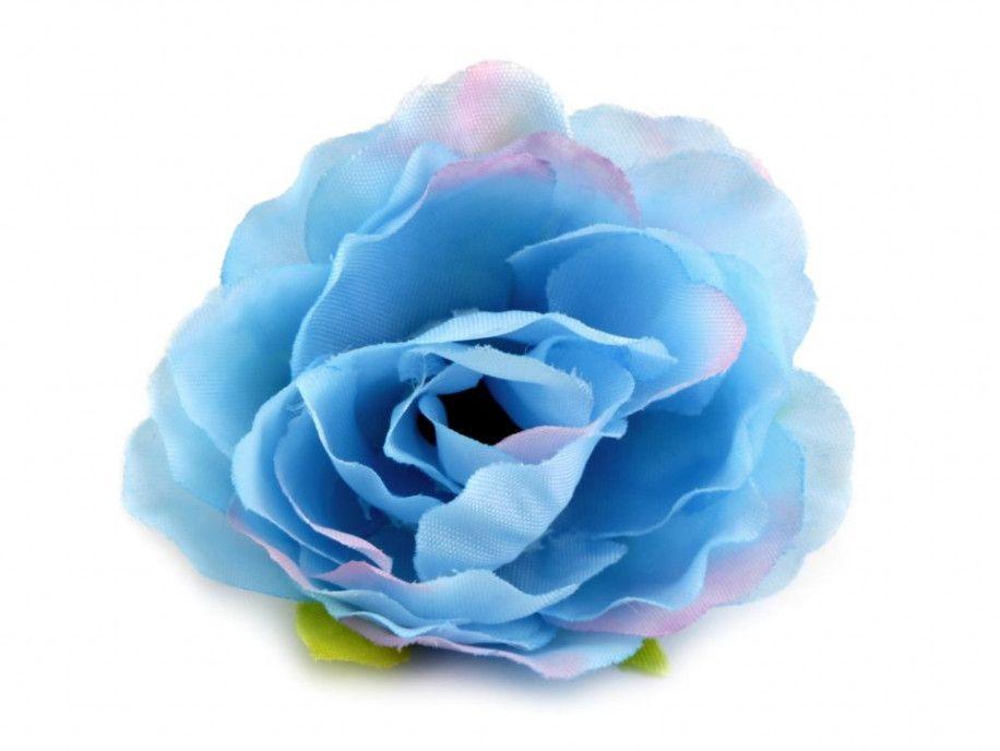 kwiat sztuczna róża błękitna