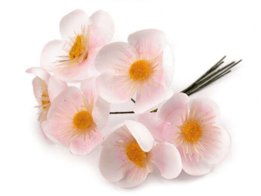 sztuczne kaczeńce różowe bukiecik 6 szt.
