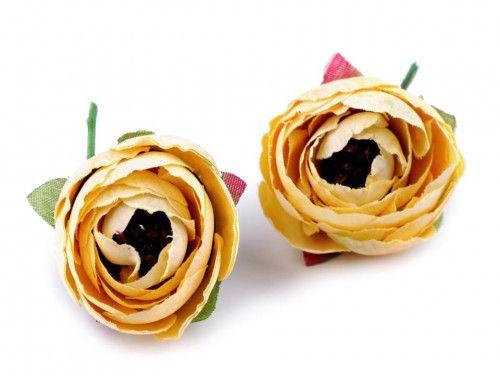 kwiat sztuczny jaskier kremowy 2 szt.