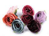 kwiat sztuczny jaskier różowy 2 szt.
