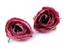 kwiat sztuczny jaskier różowy ciemny 2 szt.