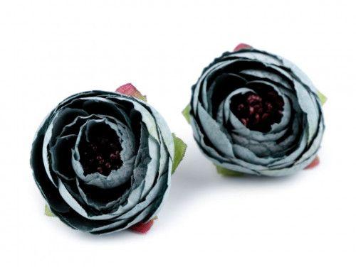 kwiat sztuczny jaskier turkusowy 2 szt.