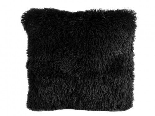 poszewka na poduszkę włochata czarna
